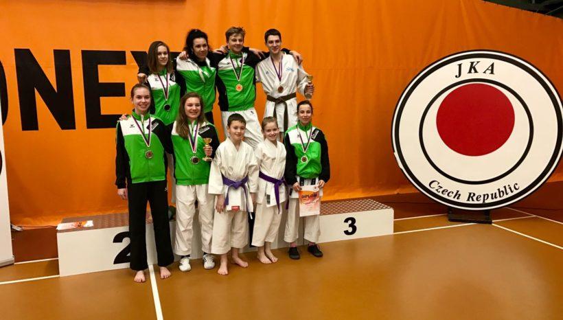 1. kolo NP JKA karate seniorů a dorostenců a 1. kolo ČNL žáků