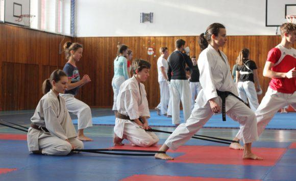 Soustředění reprezentace karate JKA